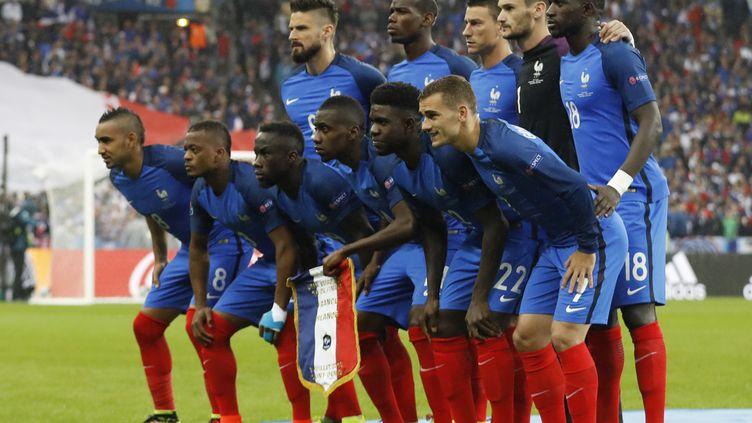 L'équipe de France de football avant le quart de finale de l'Euro 2016 contre l'Islande, le 3 juilllet. (REUTERS)