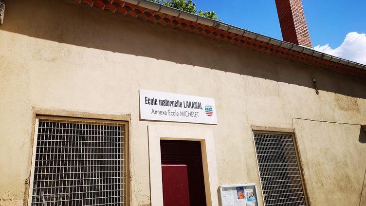 L'école maternelle Lakanal, à Béziers. (STÉFANE POCHER / RADIO FRANCE)