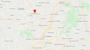 Neuville-de-Poitou, au nord-ouest de Poitiers (Vienne) (GOOGLE MAPS)