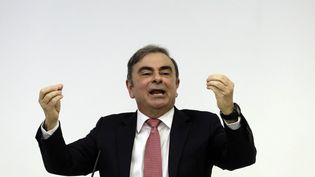 Carlos Ghosn, le 8 janvier à Beyrouth (Liban). (JOSEPH EID / AFP)