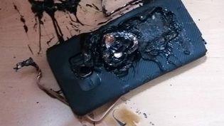 Un smartphone Samsung Galaxy Note 7 dont la batterie a explosé à Hong Kong, le 20 septembre 2016. (EYEPRESS NEWS)