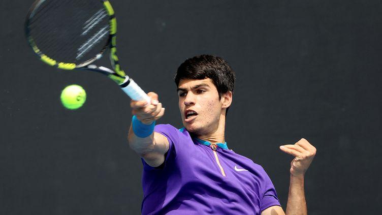 Carlos Alcaraz à l'Open d'Australie en février 2021. (DAVID GRAY / AFP)