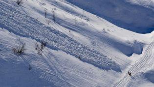 La préfecture de Haute-Savoie a mis en garde contre les risques élevés d'avalanches dans le massif alpin, le 28 décembre 2013. (JEAN-PHILIPPE DELOBELLE / AFP)