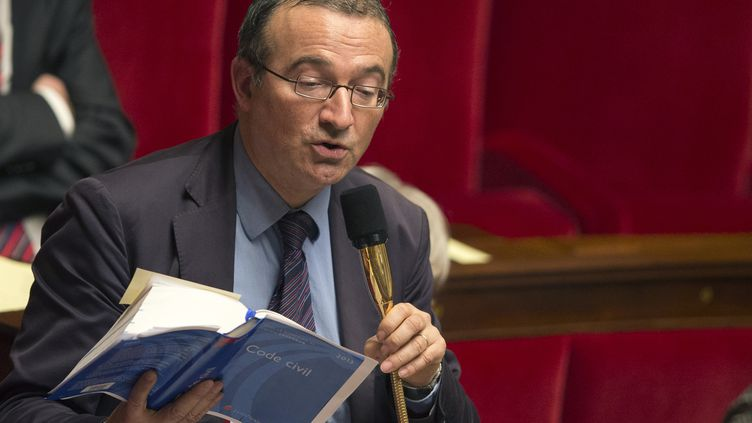 Le député UMP Hervé Mariton, à l'Assemblée nationale, à Paris, lors des débats sur le mariage pour tous, le 6 février 2013. (JOEL SAGET / AFP)