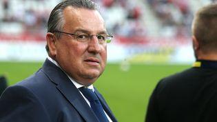 Jean-Pierre Caillot, président du stade de Reims, le 17 août 2018. (FRANCOIS NASCIMBENI / AFP)
