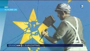 Le drapeau européen brisée par Banksy (France 3)
