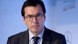Jean-Pierre Farandou, PDG de la filiale de la SNCF Keolis, le 4 novembre 2018 à Paris. (ERIC PIERMONT / AFP)