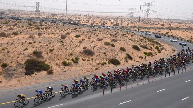 De longues lignes droites au milieu du désert, un paysage typique traversé par les coureurs dans la péninsule arabique.