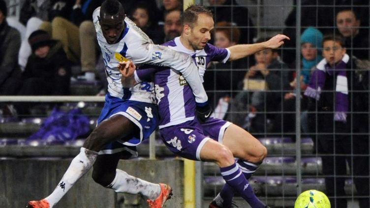 Didot (Toulouse) a été stoppé par Bastia (PASCAL PAVANI / AFP)