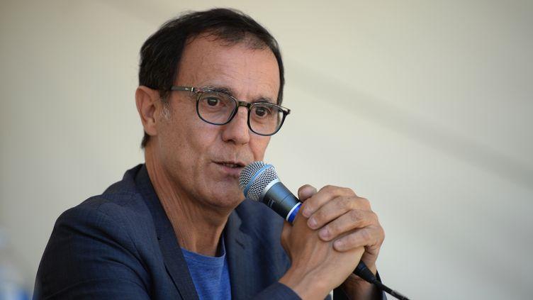 L'animateur Thierry Beccaro à Chanceaux-près-Loches, le 26 août 2018. (GUILLAUME SOUVANT / AFP)