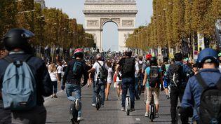 Le dimanche 16 septembre était une journée sans voiture à Paris. (FRANCOIS GUILLOT / AFP)