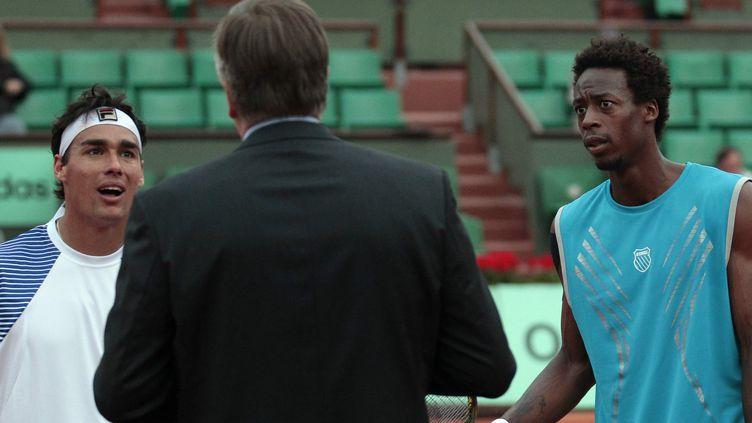 Gaël Monfils et Fabio Fognini s'étaient sérieusement accrochés à Roland-Garros en 2010.