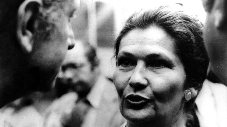 Simone Veil après son élection à la présidence du Parlement européen en juillet 1979 (KEYSTONE PICTURES USA / MAXPPP)