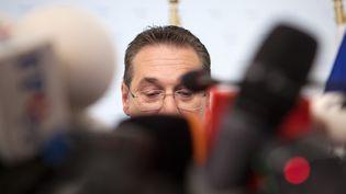 Le vice-chancelier autrichien,Heinz-Christian Strache, à Vienne en Autriche, le 18 mai 2019.  (ALEX HALADA / AFP)