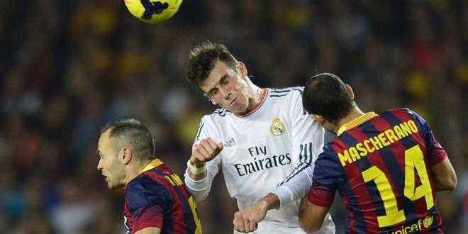 Bale entre Iniesta et Mascherano