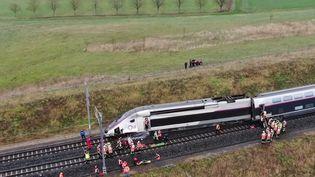Un TGVColmar-Parisa déraillé jeudi 5 mars dans le Bas-Rhin. Le conducteur se trouve dans un état grave et 22 personnes ont été blessées au total. (FRANCE 3)
