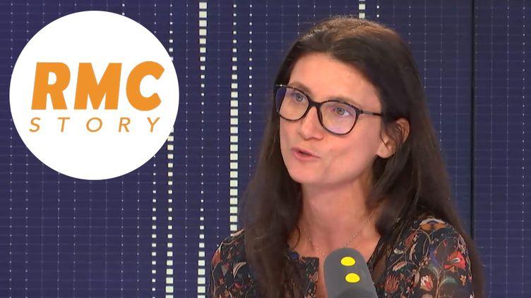 Guénaëlle Troly,directrice de la chaîne Numéro 23, rebaptisée le 3 septembre : RMC story. (RADIO FRANCE / FRANCEINFO)