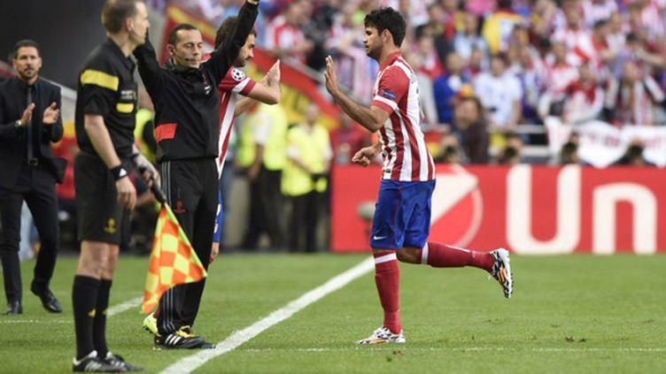 Diego Costa (Atletico Madrid) sort sur blessure (FRANCK FIFE / AFP)