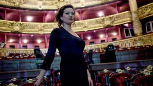 La soprano Julie Fuchs, ici en 2015 à l'Opéra Garnier, est programmée en cette même salle en récital le 18 décembre 2020. (STEPHANE DE SAKUTIN / AFP)
