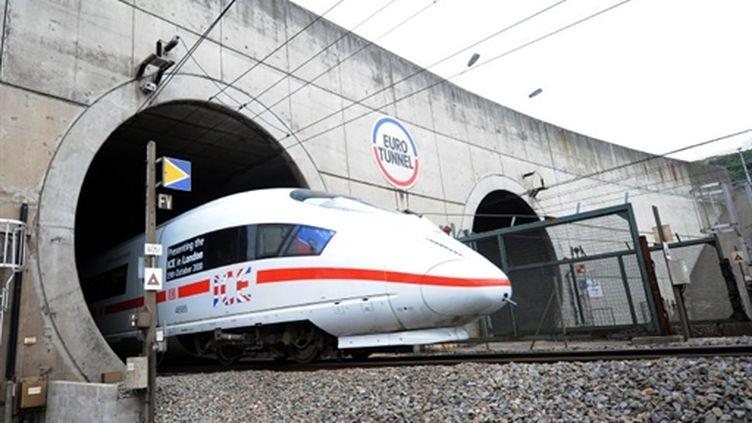 L'ICE3 dans le tunnel sous la Manche (13/10/10) (AFP/DENIS CHARLET)