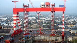 Le chantier naval de Saint-Nazaire, le 18 décembre 2013. (BERNARD BIGER / STX EUROPE / AFP)