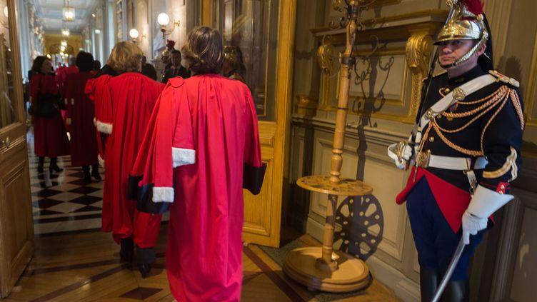 (La conférence des premiers présidents de cour d'appel, le 14 janvier. © WITT/SIPA)