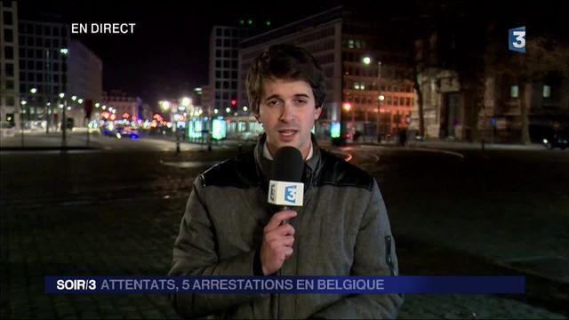 Attentats de Bruxelles : cinq personnes interpellées