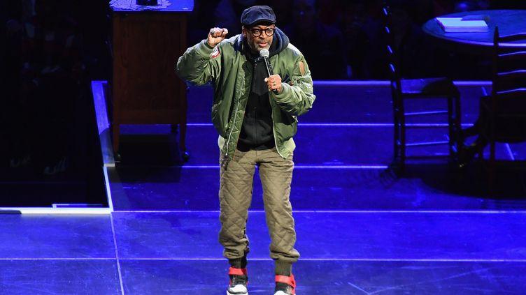 Spike Lee à New York, le 26 février 2020. (ANGELA WEISS / AFP)