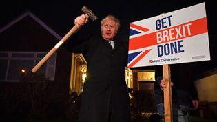Le Premier ministre britannique, Boris Johnson, le 11 décembre 2019 à Essex (Royaume-Uni). (BEN STANSALL / AFP)