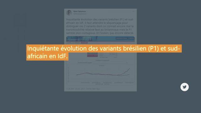Vrai ou Fake : les variants brésilien et sud-africain du Covid-19 sont-ils de moins en moins présents en France ?