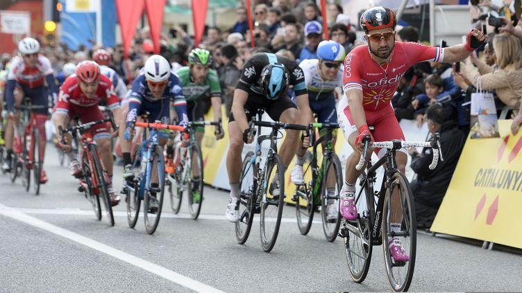 Victoire au sprint pour Nacer Bouhanni (Cofidis) (JOSEP LAGO / AFP)