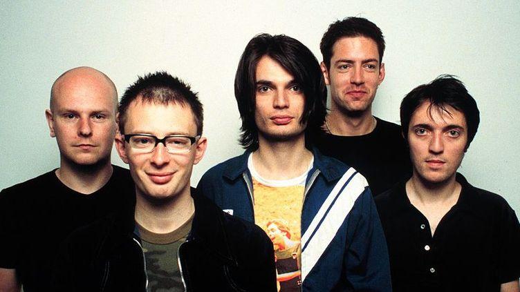 "Radiohead en juin 1997 au moment de la sortie de ""OK Computer"".  ( Jim Steinfeldt/Michael Ochs Archives/Getty Images)"