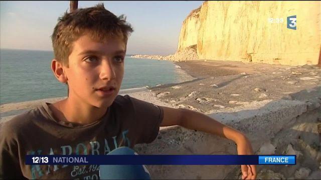 Seine-Maritime : effondrement d'une falaise au nord de Fécamp