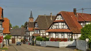 Le village deHunspach (Bas-Rhin), le 16 février 2017. (JEAN ISENMANN / ONLY FRANCE / AFP)