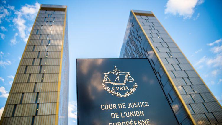 Le fronton de la Cour de justice de l'Union européenne au Luxembourg. (AFP)