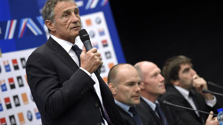 Guy Novès le sélectionneur du XV de France (FRANCK FIFE / AFP)