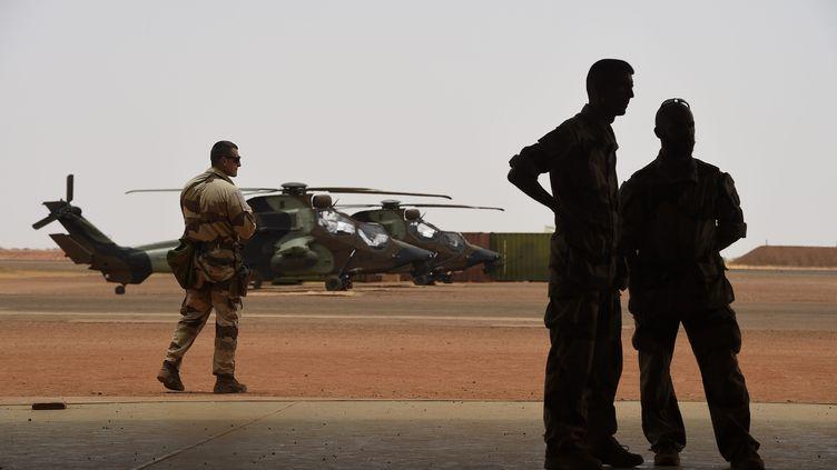 Les forces françaises à Gao, au Mali, le 17 mai 2017. (CHRISTOPHE PETIT TESSON / MAXPPP)