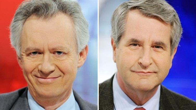 L'incertitude est maximale quant à l'issue du scrutin entre Jacques Bigot (PS-photo gauche) et Philippe Richert (UMP). (AFP - Frederick Florin)