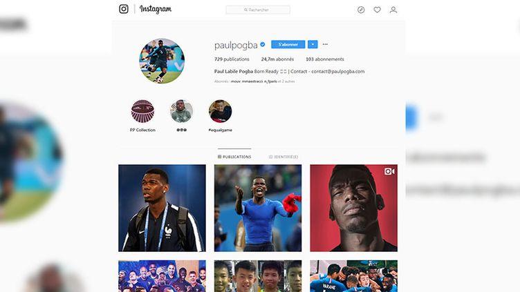 Le compte Instagram de Paul Pogba, suivi par près de 25 millions de personnes. (CAPTURE D'ÉCRAN INSTAGRAM)