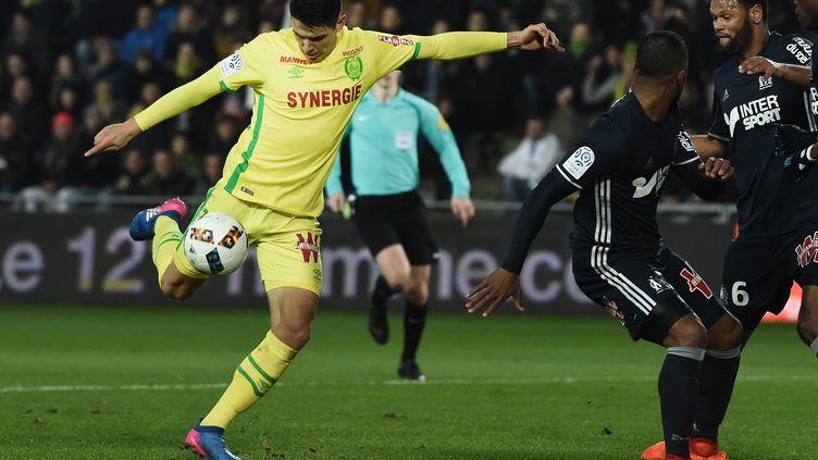 Stepinski a inscrit un superbe but pour permettre à Nantes de mener 2-0 (JEAN-SEBASTIEN EVRARD / AFP)