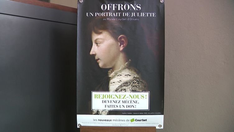 Une souscription a été pour permettre au musée Gustave Courbet d'acquérir un portrait de Juliette la soeur de l'artiste (France 3 Franche-Comté)