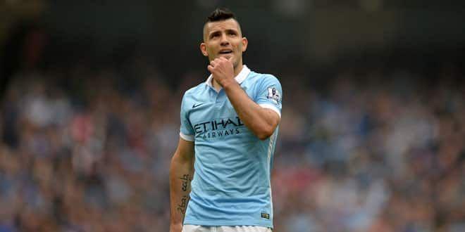 Le joueur de Manchester City, Sergio Aguero