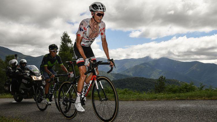 Warren Barguil et Nairo Quintana lors du Tour de France 2017 (PHILIPPE LOPEZ / AFP)