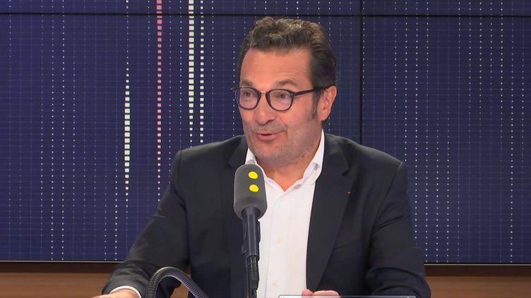 Didier Quillot, le directeur général de la LFP (Ligue de football professionnel), invité de la matinale de franceinfo le 3 janvier 2019 (FRANCEINFO / RADIOFRANCE)