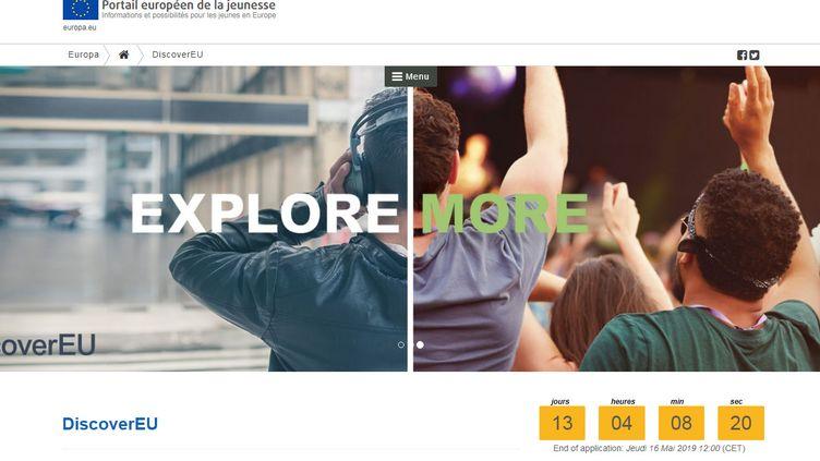 Capture d'écran du portail européen de la jeunesse. (EUROPA.EU)