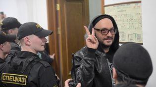 Le réalisateur Kirill Serebrennikov est entendu au tribunal de Moscou (Russie), le 18 mars 2018. (EVGENY BIYATOV / SPUTNIK / AFP)