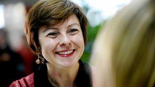 La tête de liste PS en Languedoc-Roussillon-Midi-Pyrénées, Carole Delga, le 23 novembre 2015 à Montpellier. (MAXPPP)