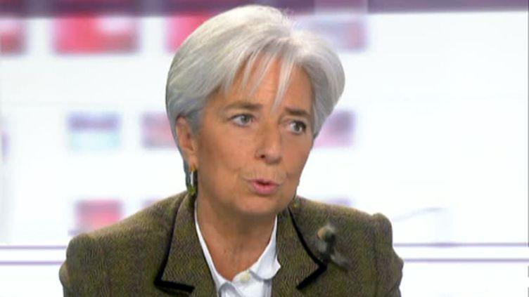 Christine Lagarde aux Quatre Vérités sur France 2 le 15 février 2011 (France 2)
