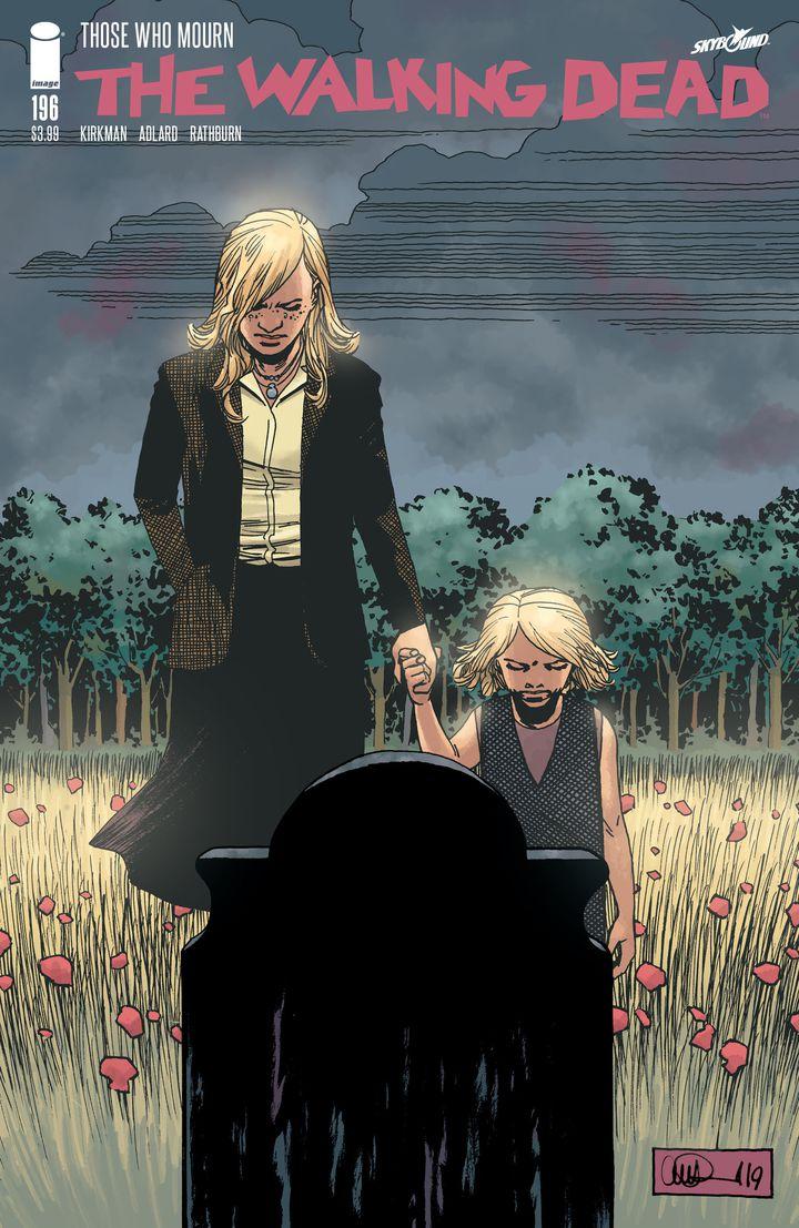 """Couverture du numéro 196 de """"The Walking Dead"""", conçue pour laisser penser que la série continuait après le numéro 193. (IMAGE COMICS)"""
