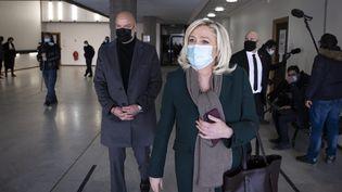 Marine Le Pen au tribunal de Nanterre lors de son procès en février 2021. (ALEXIS SCIARD / MAXPPP)
